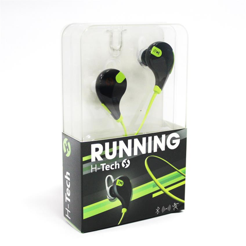 Audífono running bluetooth color verde H-Tech AU03