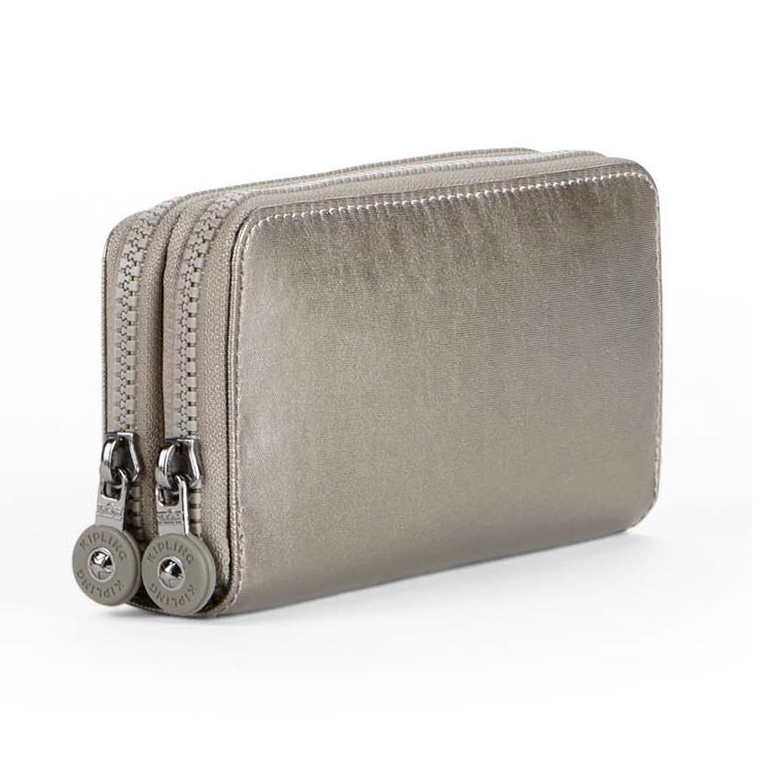 Billetera Uzario Metallic Pewter KIPLING K13198L34