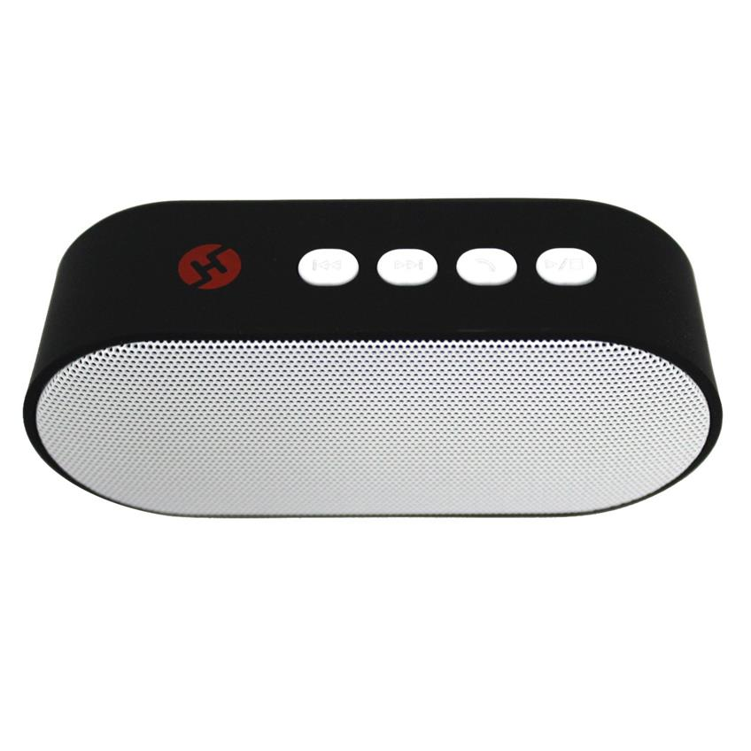 Bocina mini bluetooth con radio fm color blanco H-Tech BT04