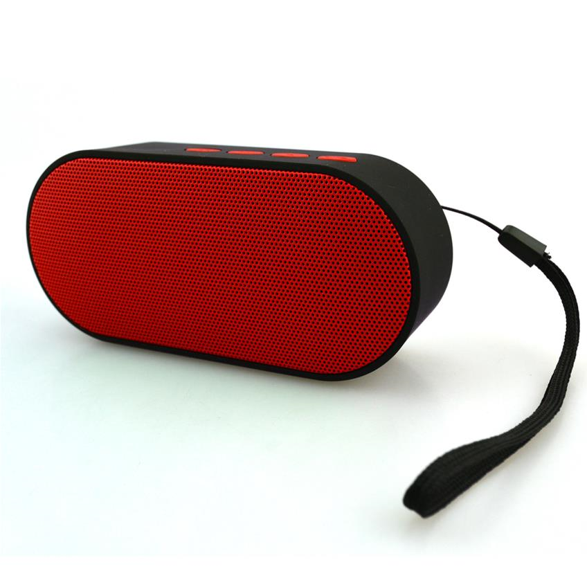 Bocina mini bluetooth con radio fm color rojo H-Tech BT04