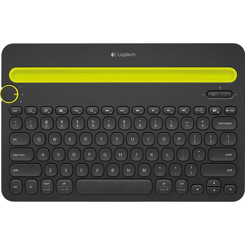 Logitech Bluetooth Multi-Device Keyboard K480  (Black) SPANISH 920-006346