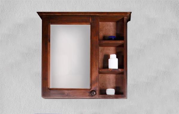 Mueble de ba o santa fe con espejo incluido complementos y for Mueble con espejo para bano