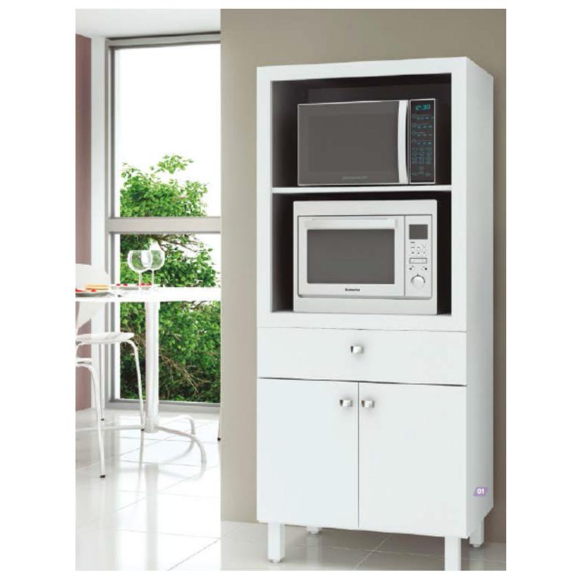 Mueble Para Microondas Doble Color Blanco Bl3305 Cocinas Más Clubdecomprasbi Com
