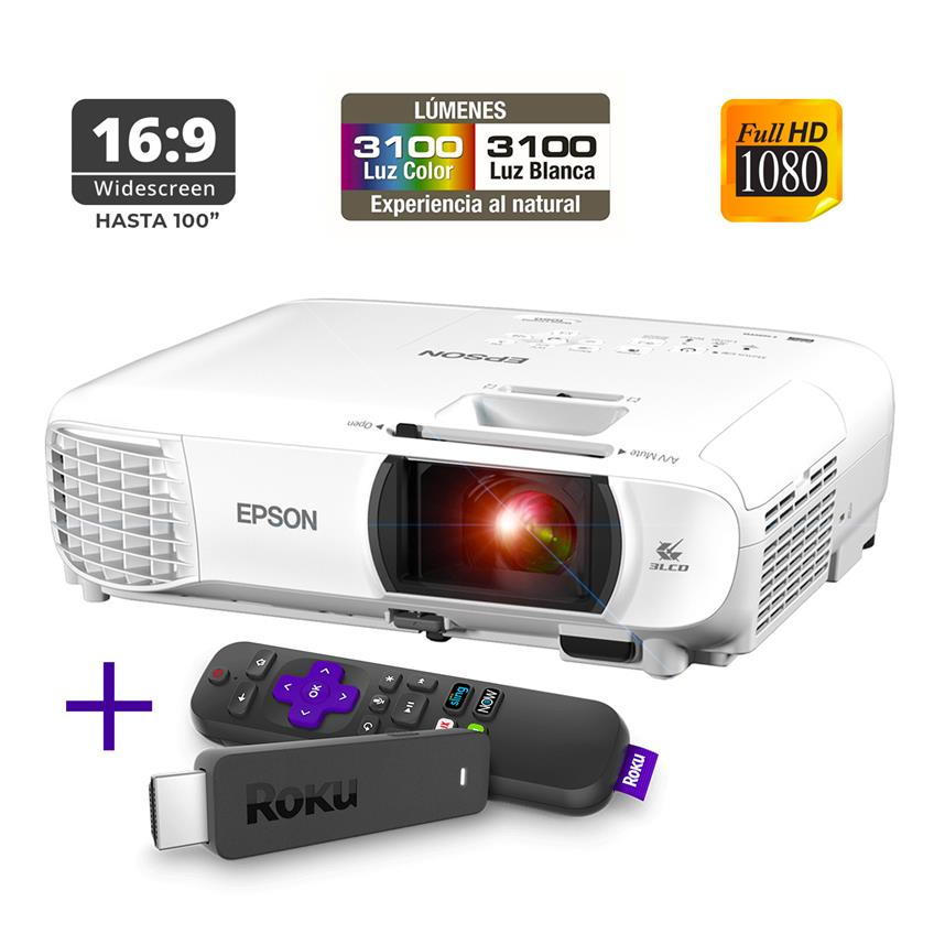 Proyector Epson Home Cinema 1060 + Roku Express
