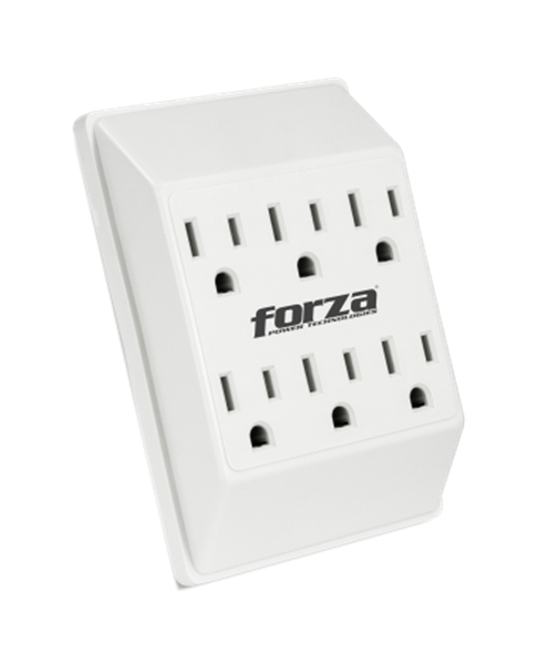 Tomacorriente Forza power de pared 6 salidas FWT-660