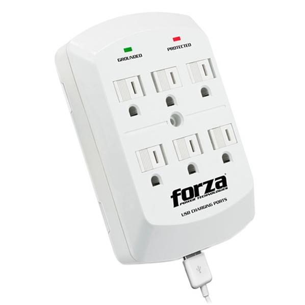 Tomacorriente Forza power de pared  6-salidas FWT-760USB