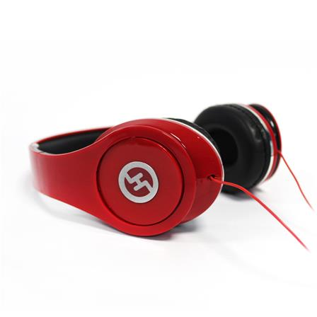 Audífono estudio color rojo H-Tech AU02