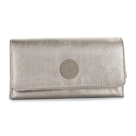 Billetera Brownie  Metallic Pewter KIPLING K15171L34