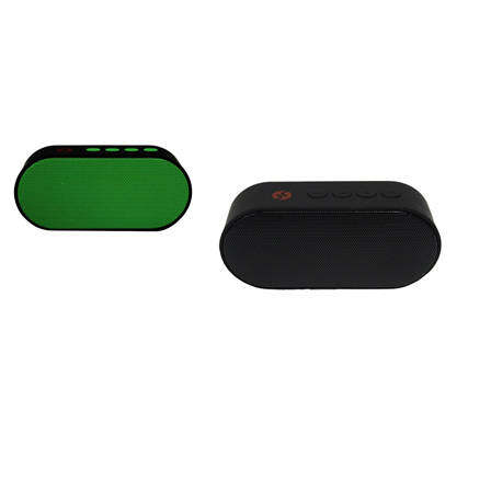 Combo Bocinas mini bluetooth con radio fm color verde + color negro H-Tech BT04