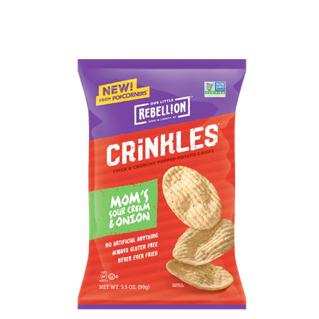 Crinkle Crisps Moms Sour Cream & Onion / 3.5 Oz.