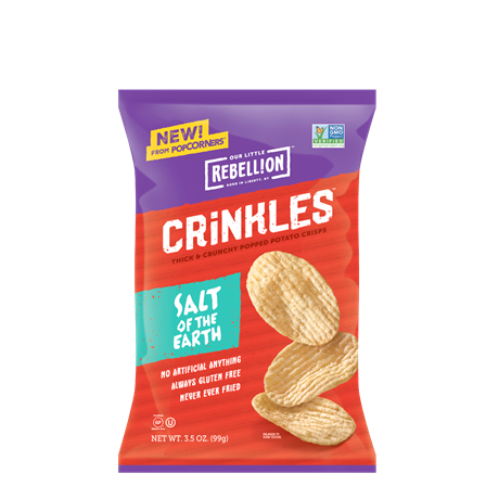 Crinkle Crisps Salt Of The Earth/ 3.5 Oz.