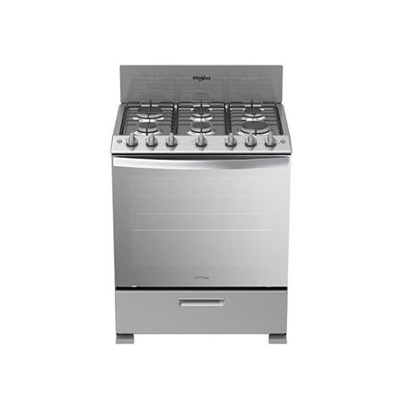 "Estufa a Gas 30"" Whirlpool color gris LWFR3200D"