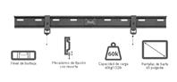 "KlipX LCD/LED Bracket Slim 36-65"" Load 60Kgs Black KFM-565"
