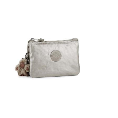 Monedero pequeño Creativity S Metallic Pewter KIPLING K15205L34