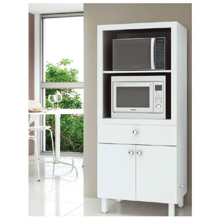 Mueble para microondas doble color blanco BL3305 Cocinas&Más
