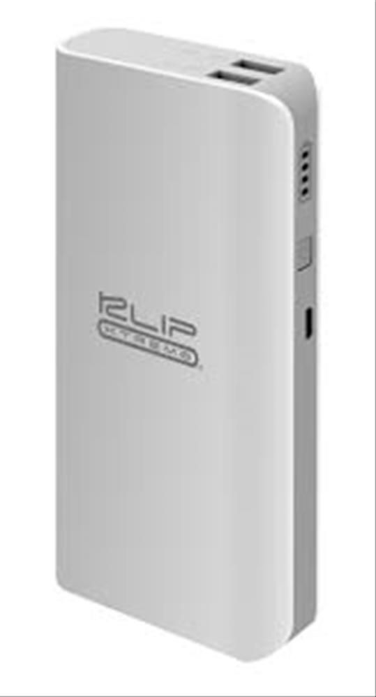 Power Bank 12000 mAh Color Blanco con Gris Klip Xtreme