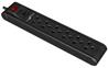 Forza power strip 6 out breaker 110/220V black FPS-005B