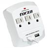 Tomacorriente Forza power de pared 3-salidas y usb FWT-730USB